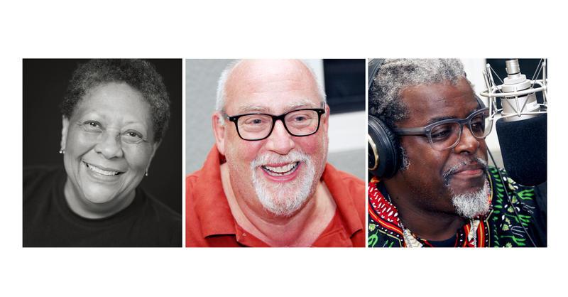 Poet Marilyn Nelson, Driver Larry Elsner, Bishop John Selders.