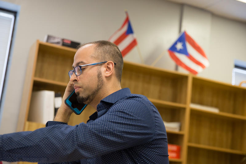 As Hurricane Maria bore down on Puerto Rico, Jason Ortiz, president of the Connecticut Puerto Rican Agenda was already working on relief efforts.