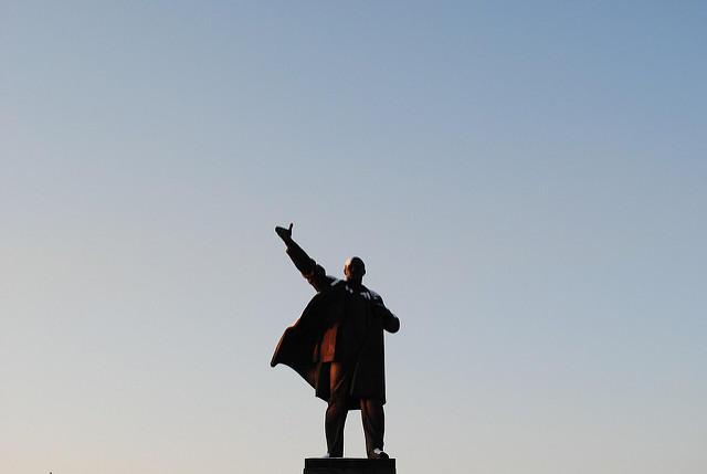 Statue of Vladimir Lenin.