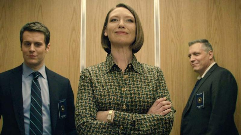 "Jonathan Groff, Anna Torv, and Holt McCallany in ""Mindhunter"""
