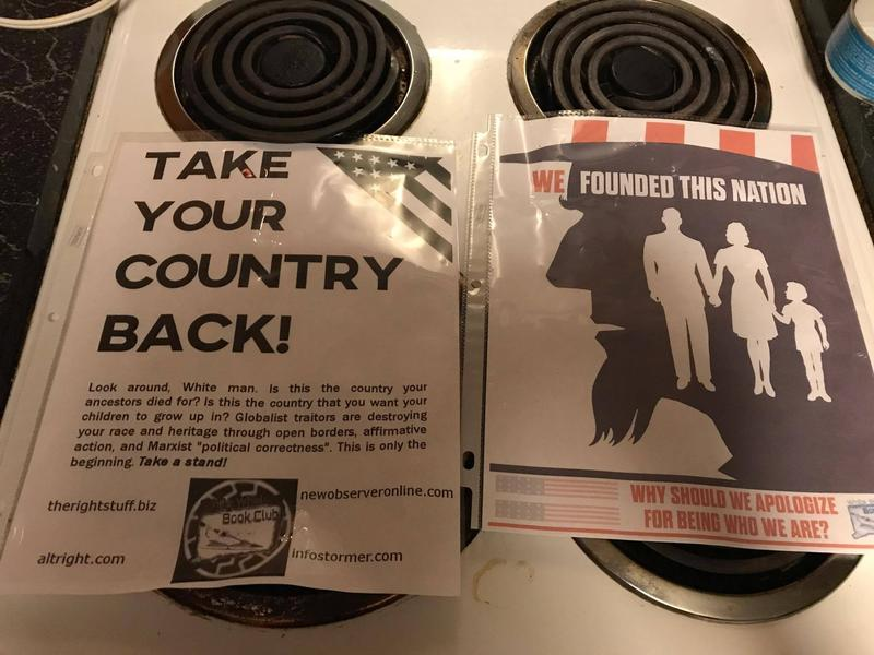 White Supremacist flyers like this one were posted in Southington and Bristol last week. Similar flyers have appeared recently in Norwalk, Easton and Wilton.