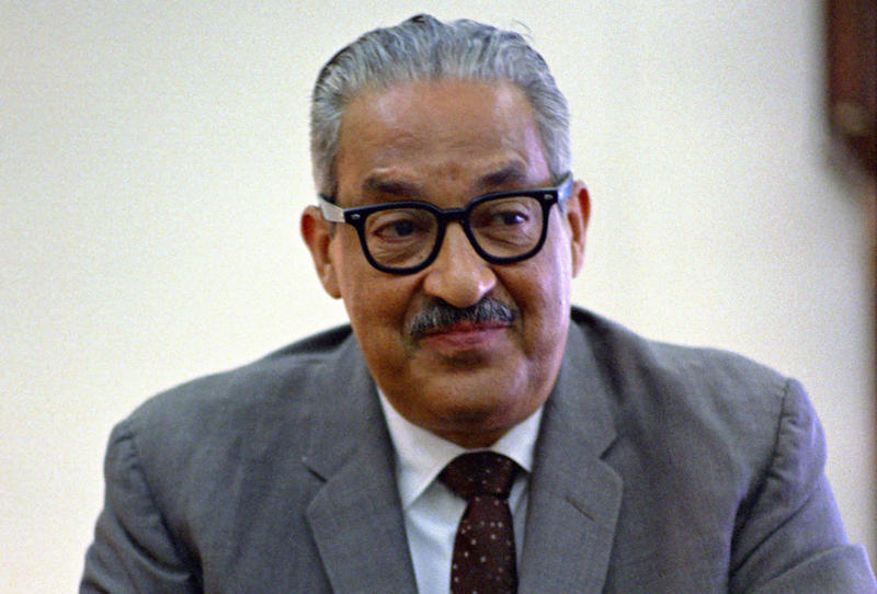 Thurgood Marshall in the Oval Office in 1967.