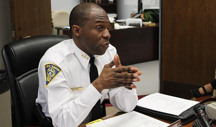 New Haven Police Chief Anthony Campbell is the latest member of the local police force to be leaving the city's employment.