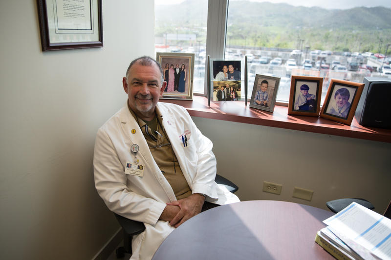 Dr. Bolivar Arboleda Osorio, in his office in Caguas, Puerto Rico last month.  He's concerned about the declining number of physicians on the island.