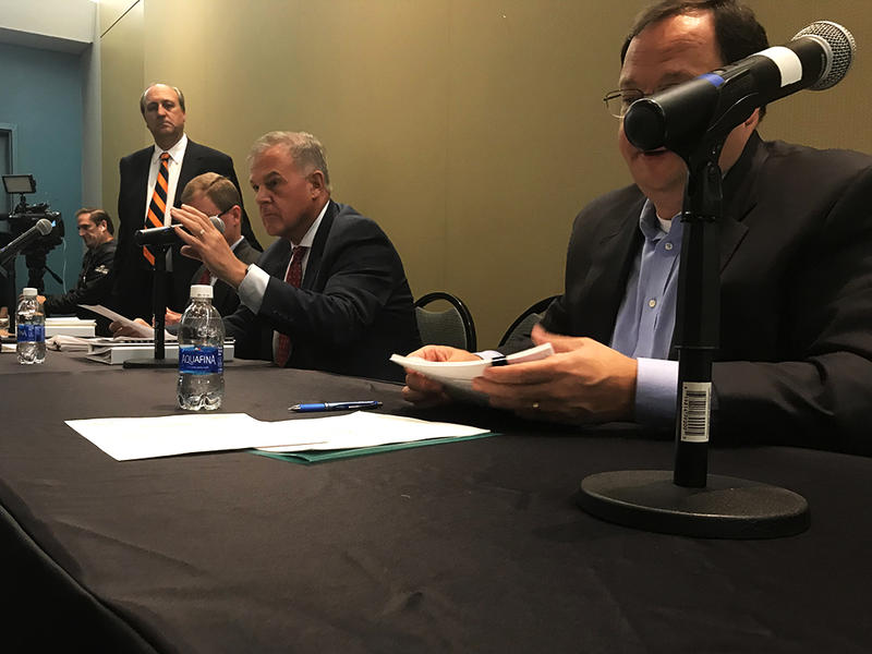 Members of the Capital Region Development Authority heard proposals by Dillon Stadium bidders on Wednesday.