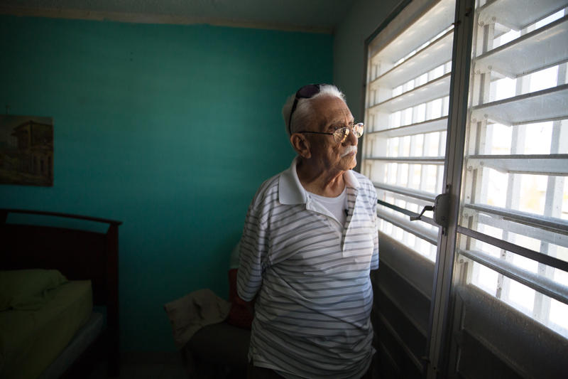 Alejandro La Luz Rivera returned to Puerto Rico after going to Pennsylvania because he didn't want to leave the home he and his wife built together.