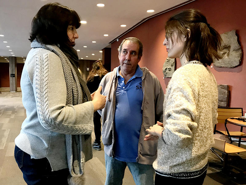 Francisco Acosta (center) has lived in the United States since 2001. His mother is a citizen. He awaits a decision on his final removal order.