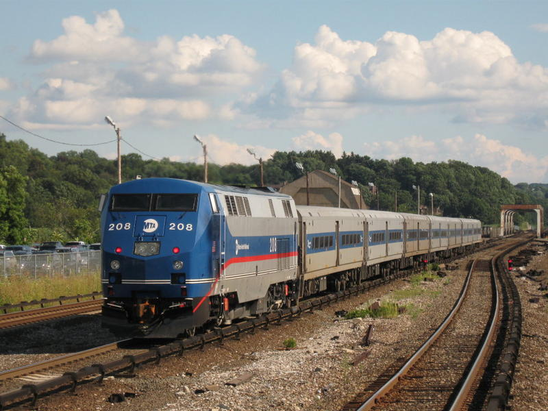 A train on the Metro-North rail line. A Connecticut Department of Transportation spokesman said Tuesday that it hopes to have Positive Train Control on the New Haven Line by 2019.