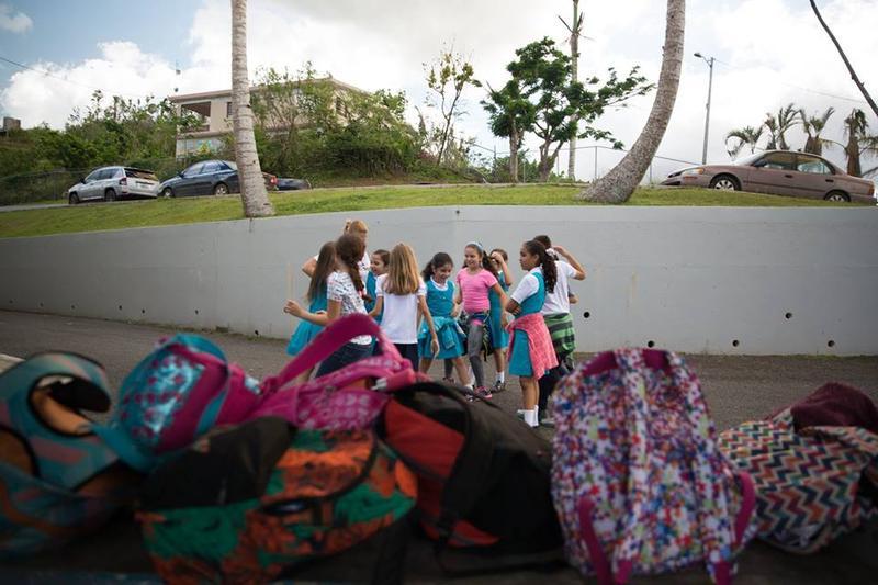 Schoolchildren in Orocovis, Puerto Rico.