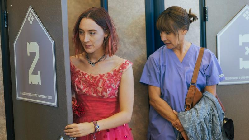 "Saoirse Ronan and Laurie Metcalf in Greta Gerwig's ""Lady Bird"""
