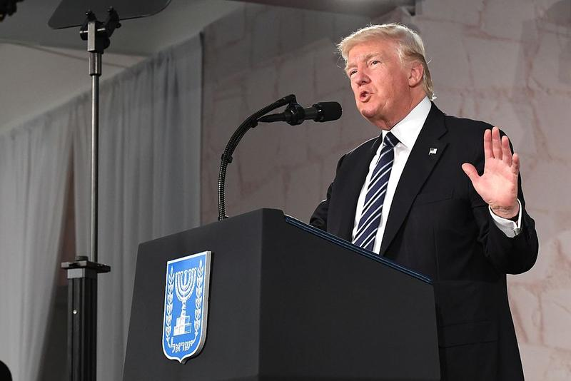 President Trump pictured this past May during a visit to the Israel Museum in Jerusalem.