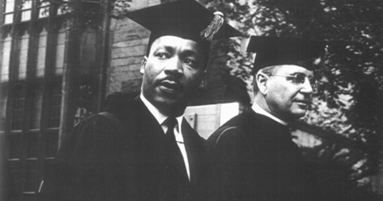 The Reverend Dr. Martin Luther King, Jr. participating in Yale commencement.