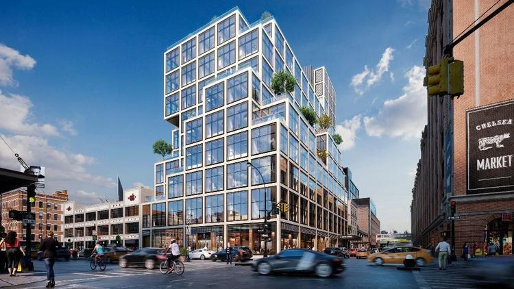 The planned new building in lower Manhattan that Aetna selected for its headquarters move