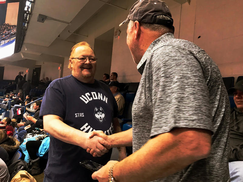"Tom ""Big Red"" Emery received his own appreciation day on Saturday after 40-plus years of being a big fan of the University of Connecticut men's basketball team."
