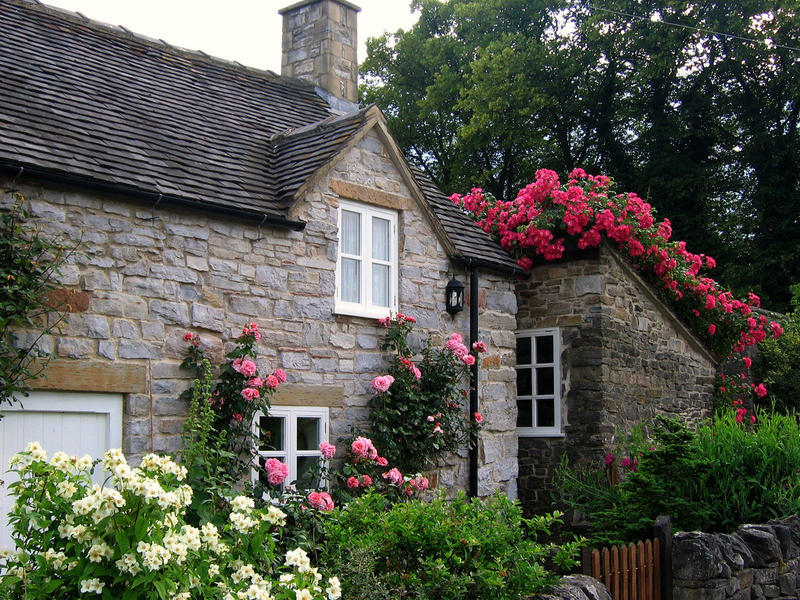 Cottage on the Tissington Trail in the United Kingdom.