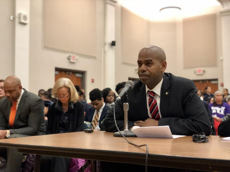 Hartford state Rep. Joshua Hall, a leader with the city teachers' union, says the school closures will perpetuate inequality.