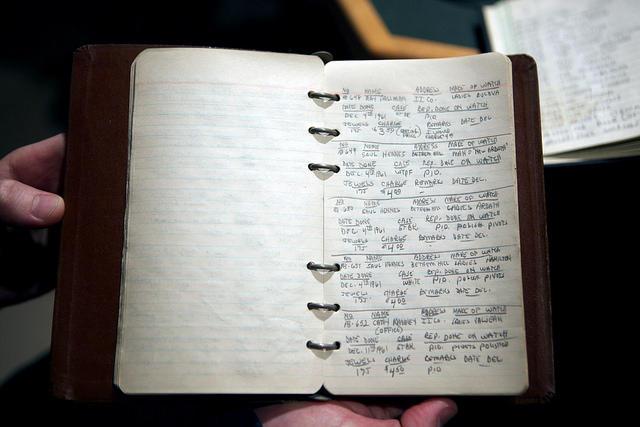 Watchmaker logbook.