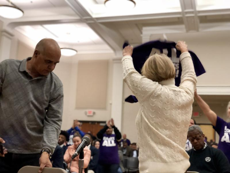 Hartford state Rep. Minnie Gonzalez raises an