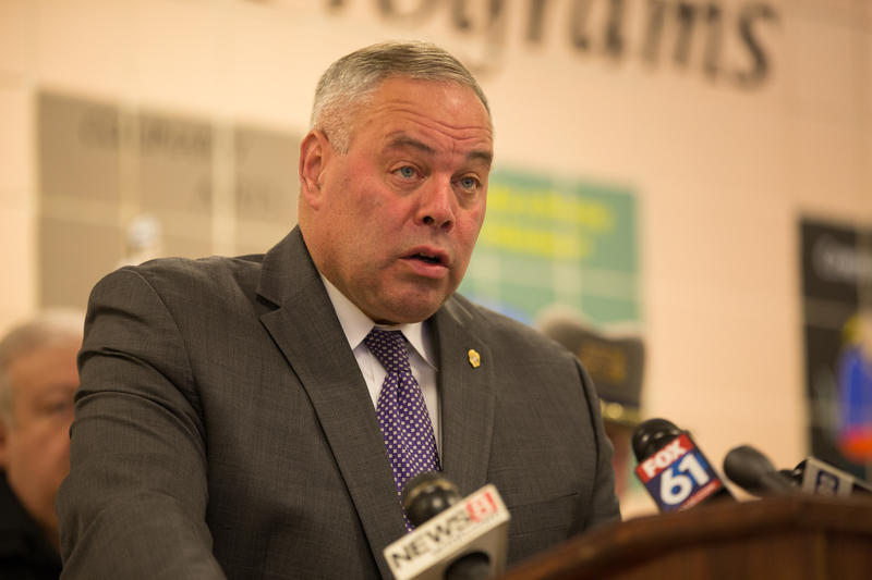 Commissioner of the Connecticut Department of Correction Scott Semple speaks at a press briefing on January 8, 2018.