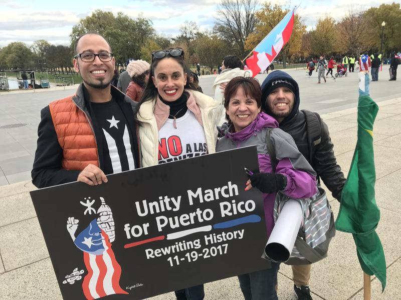Jason Ortiz (left) helped organize a Connecticut representation during November's 'Unity March For Puerto Rico' in Washington D.C. He is asking for Puerto Ricans to join him for a rally Wednesday at the Capitol building in Hartford.