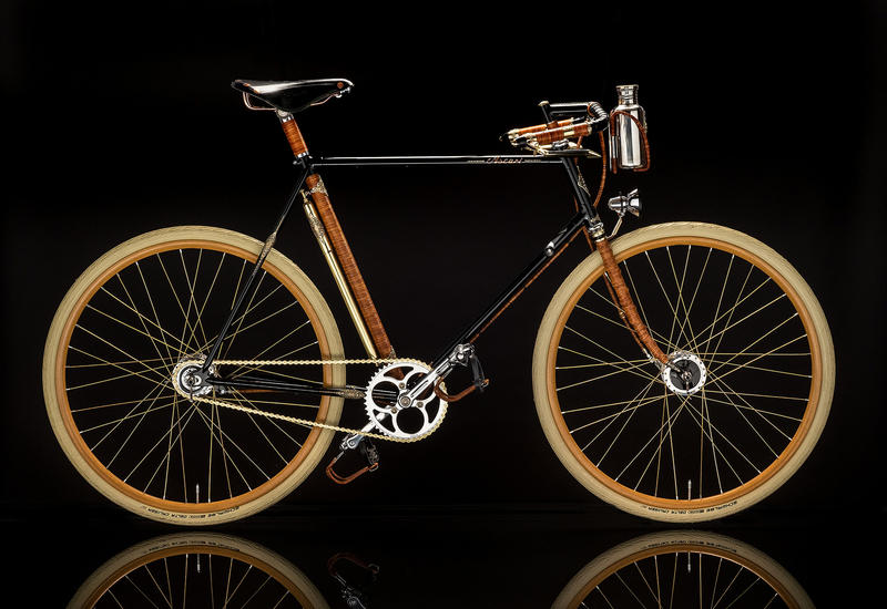 A bike from Ascari Bicycles in Brooklyn, NY.