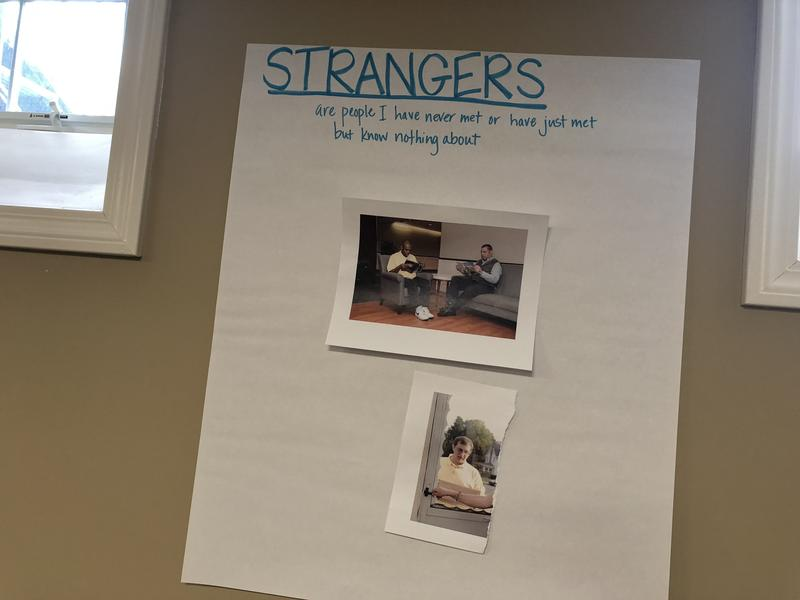 On the topic of strangers, Oak Hill students considered real-world scenarios.
