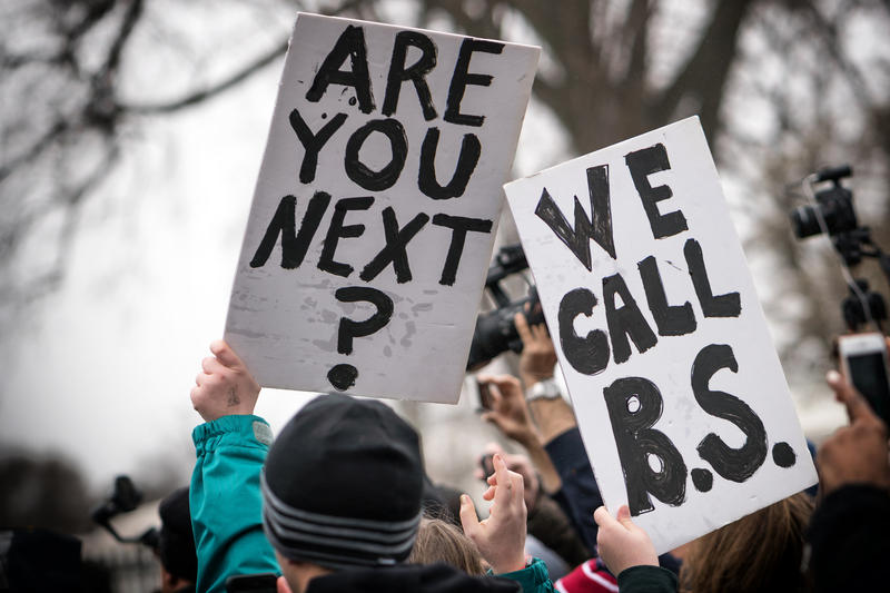 A Teens for Gun Reform demonstration in Washington, DC, on February 20.