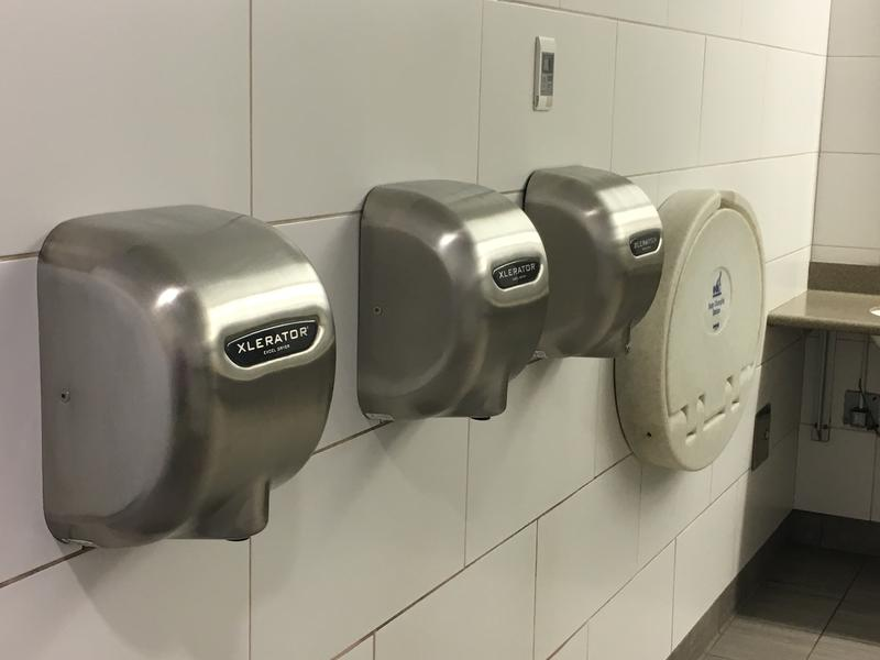 Hand dryers in Milford, Connecticut.