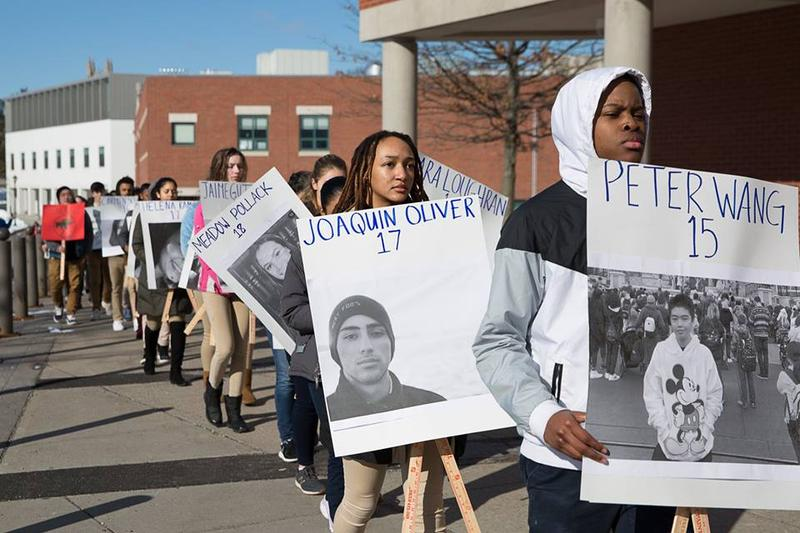 Students in Hartford join the national walkout over gun violence.