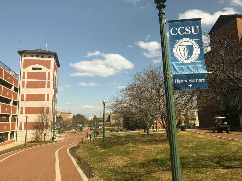 The campus of Central Connecticut State University in New Britain.
