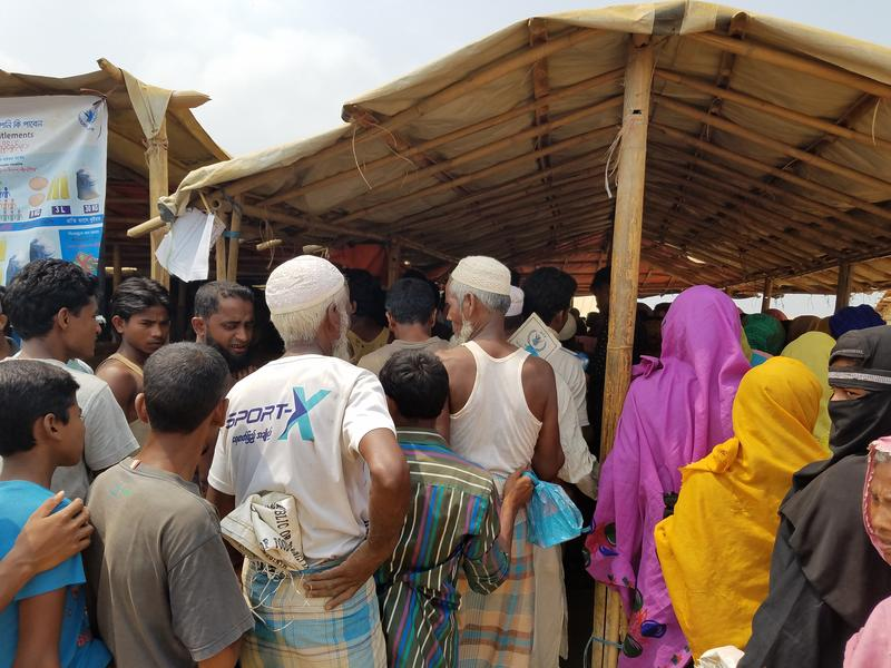 Rohingya refugees at Kutupalong refugee camp in Bangladesh