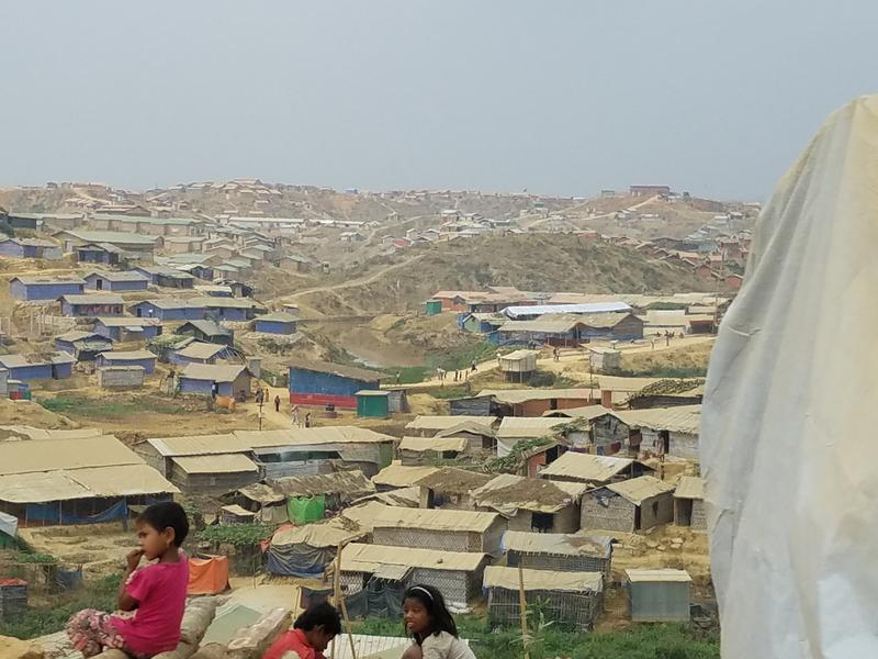 Kutupalong refugee camp in Bangladesh