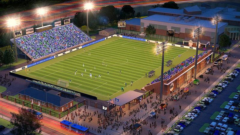 Rendering of Hartford Sports Group's proposed renovations to Dillon Stadium.