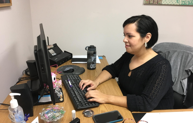 Jennifer Sanchez, an employee at Lifebridge Community Services in Bridgeport, benefits from the EITC