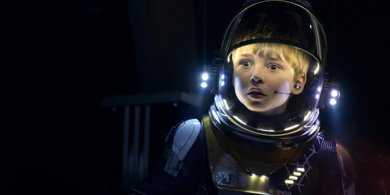 "Maxwell Jenkins as Will Robinson in Netflix's ""Lost in Space."""