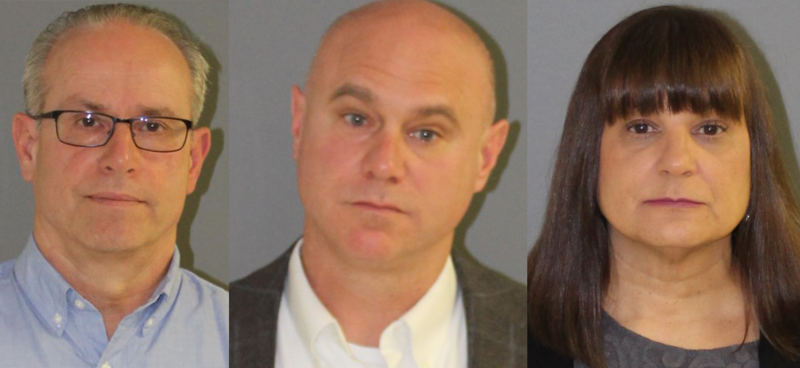 Principal Jeffrey Theodoss, Superintendent Brian Levesque, and Assistant Principal Tatiana Patten were arrested Thursday.