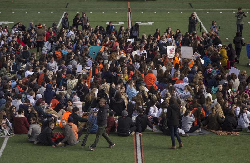 Ridgefield High School in Ridgefield, Connecticut is one of the many schools across the nation to participate in the National School Walkout on April 20. Students at Ridgefield organized the national event.