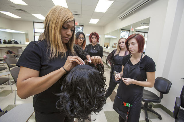 The College of DuPage Addison Regional Center hold an open house on its cosmetology program.