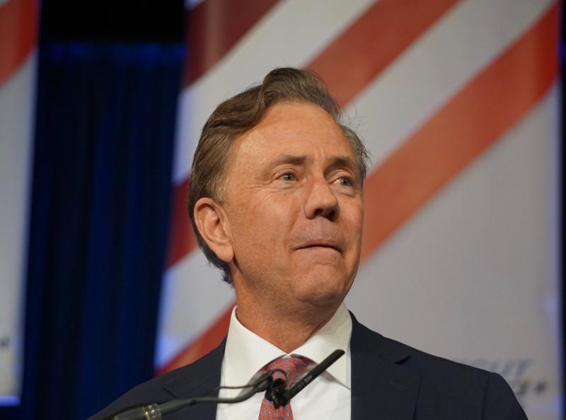 Ned Lamont briefly seemed overcome accepting the nomination.