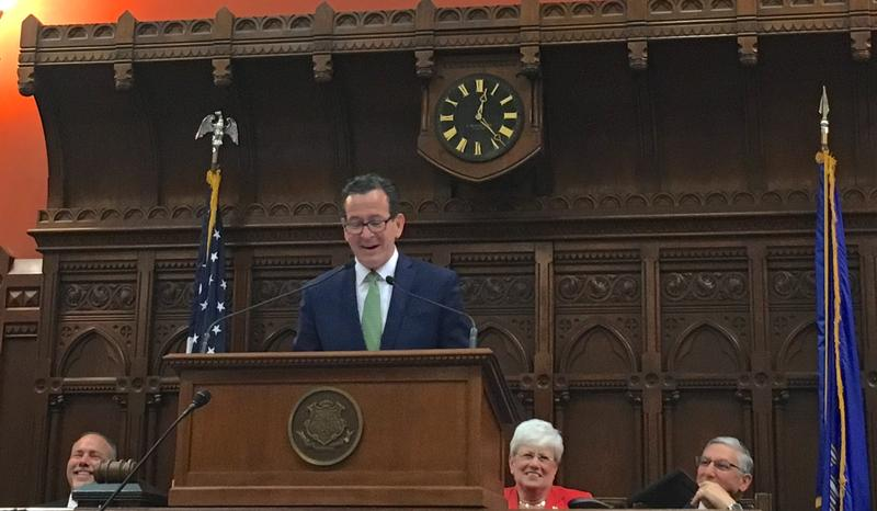 Gov. Dannel P. Malloy closes his last legislative session.