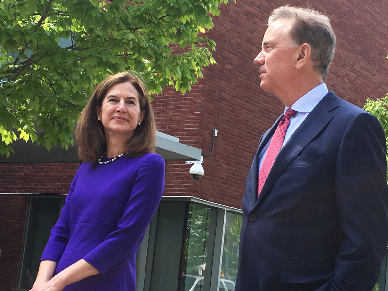 Governor-elect Ned Lamont with running mate Susan Bysiewicz