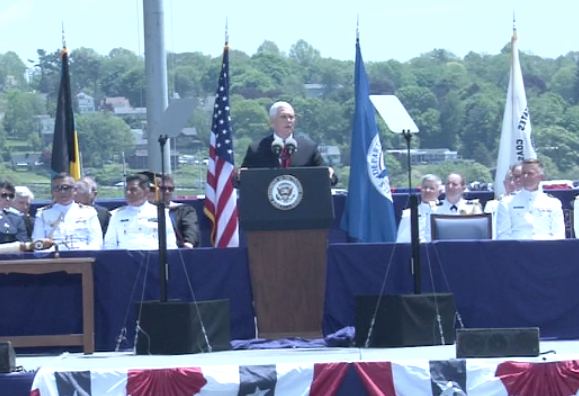 Vice President Mike Pence at the U.S. Coast Guard Academy