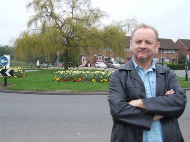Kevin Beresford at a Stretchford roundabout