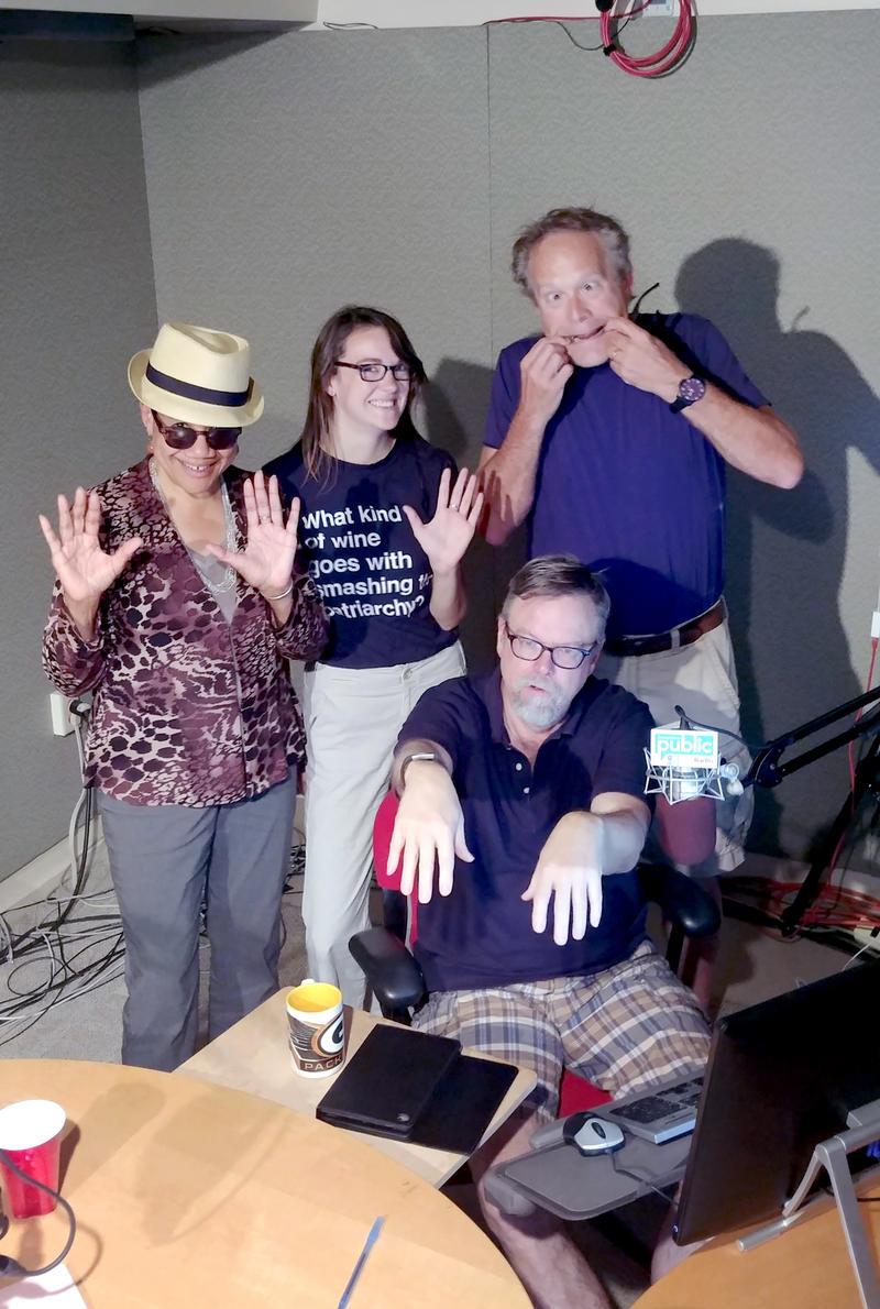 Kate Rushin, Rebecca Castellani, Colin, and Rand Richards Cooper.