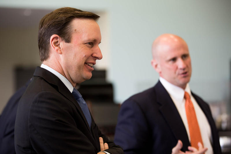 Ahead of the upcoming vote on federal defense spending for the upcoming fiscal year, United States Senator Chris Murphy visited the employees of the Mazak Corporation in Windsor Locks on June 18 to discuss the state of the manufacturing industry.