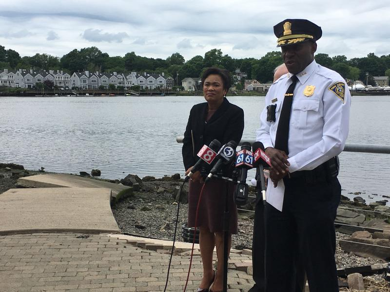 New Haven Mayor Toni Harp and Police Chief Anthony Campbell annouce duck hunting ban in New Haven.