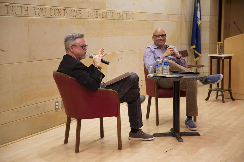 Colin with Larry Wilmore at The Mark Twain House & Museum, June 6, 2018.