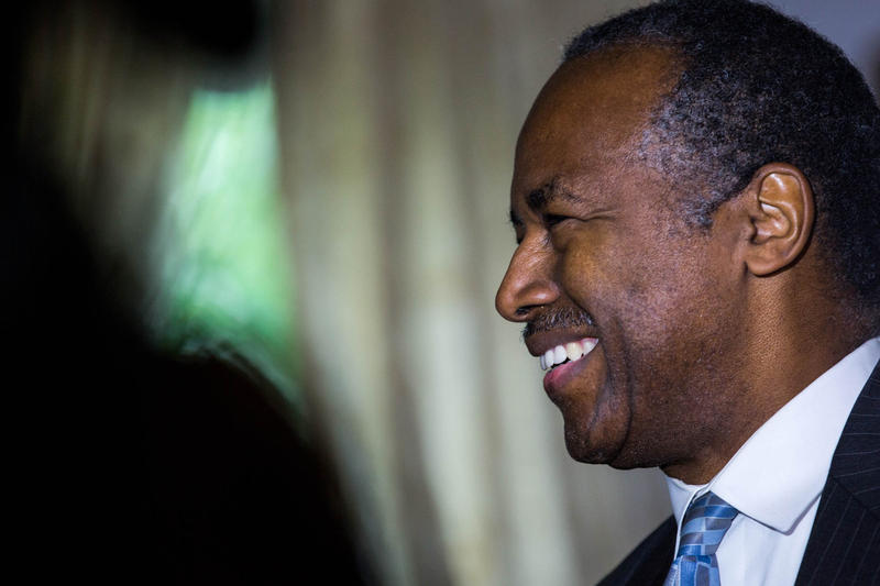 The Secretary of the United States Department of Housing and Urban Development, Ben Carson, showed up at the home of the Perracchio family in Willington on Monday, June 4.