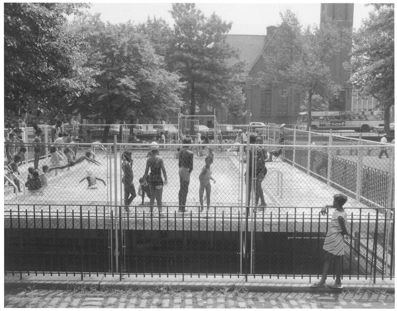 Children play at the Marcus Garvey Mini-Pool in New York City, 1967
