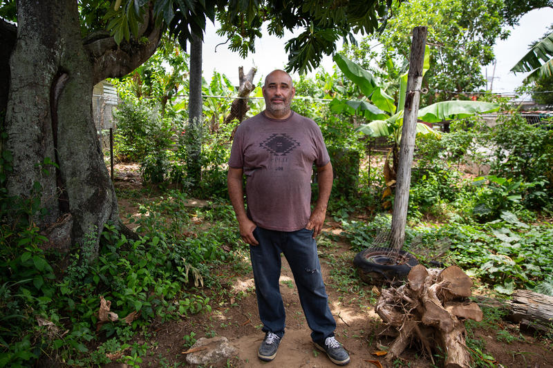Hurricane Maria destroyed Ramón Luis Morales's roof, but he hasn't been able to finish rebuilding because he's still waiting on supplies. In the meantime, he's helping another man in need fix his house.